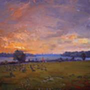 Sunset Over Gratwick Park Poster