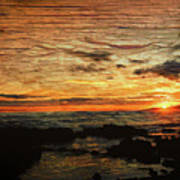 Sunset Over Hawaii Poster