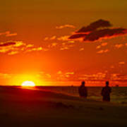 Sunset Over Indiana Dunes Poster