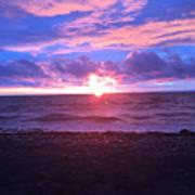 Sunset Over Lake Erie Poster