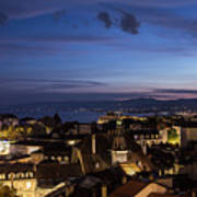 Sunset Over Lausanne   Poster