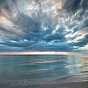 Sunset Over Naples Beach Poster