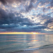 Sunset Over Naples Beach II Poster