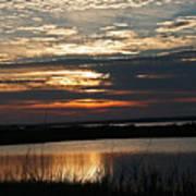 Sunset Over Navarre Poster