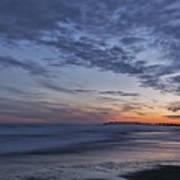 Sunset Over Rye New Hampshire Coastline Poster