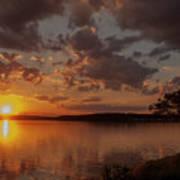 Sunset Over Shark River Poster