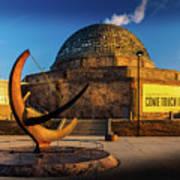 Sunset Over The Adler Planetarium Chicago Poster