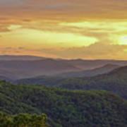 Sunset Over The Bluestone Gorge - Pipestem State Park Poster