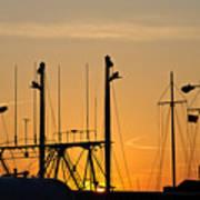 Sunset Over The Fleet Poster