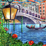 Sunset Over The Grand Canal - Venice Poster