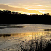 Sunset Over The Marsh Poster