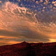 Sunset Over The Moab Rim 2 Poster