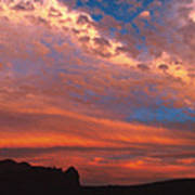 Sunset Over The Moab Rim Poster