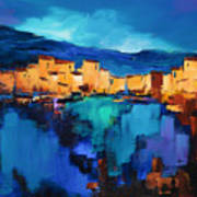 Sunset Over The Village 3 By Elise Palmigiani Poster