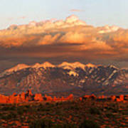 Sunset Panorama In Arches National Park Poster
