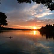 Sunset Panther Lake Poster