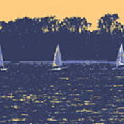 Sunset Race Poster