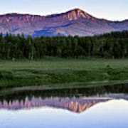 Sunset Reflections At Oxbow Bend Poster