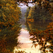 Sunset River View Poster