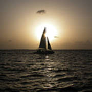 Sunset Sail - Key West Poster