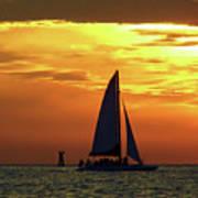 Sunset Sail Away Poster