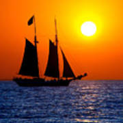 Sunset Sailing In Key West Florida Poster