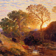 Sunset Poster by Samuel Palmer