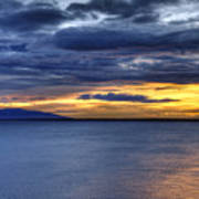 Sunset Seascape Alaska Poster