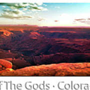 Sunset Tour Valley Of The Gods Utah Pan 09 Text Poster
