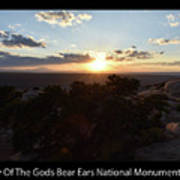 Sunset Valley Of The Gods Utah 01 Text Black Poster