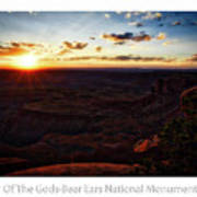 Sunset Valley Of The Gods Utah 11 Text Poster