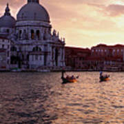 Sunset Venice Italy Poster