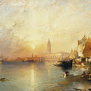 Sunset Venice Poster by Thomas Moran