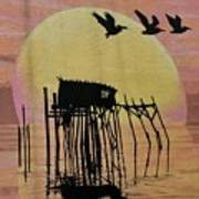 Sunset Wall Mural In Cedar Key, Fl Poster