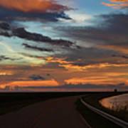 Florida Sunset Winding Road Poster