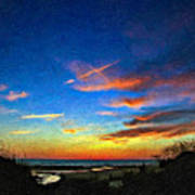 Sunset X Impasto Poster
