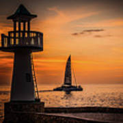 Sunsets And Sailboats Poster