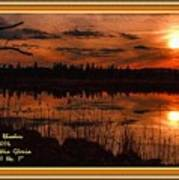 Sunsettia Gloria Catus 1 No. 1 L A. With Decorative Ornate Printed Frame. Poster