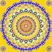 Sunshine And Blue Skies Mandala Poster
