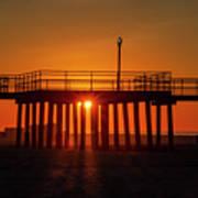 Sunshine At Wildwood Crest Pier Poster