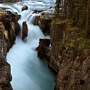 Sunwapta Falls In Jasper National Park Poster