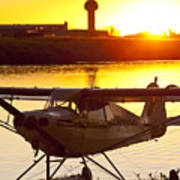 Super Cub At The End Of The Day Poster