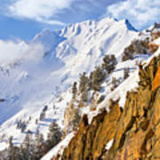 Superior Peak In The Utah Wasatch Mountains  Poster