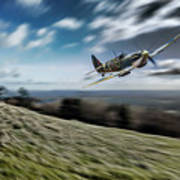 Supermarine Spitfire Fly Past Poster
