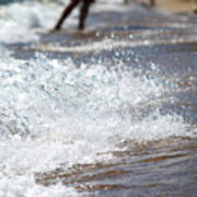 Surf Crashing Poster by Lisa Knechtel