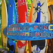 Surfboard Fence-the Amazing Race  Poster