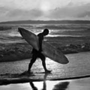 Surfer Heading Home Poster