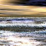 Surfer's Sunset Poster