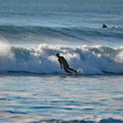 Surfing At Hampton Nh Poster