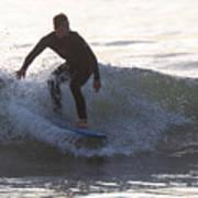 Surfing Narragansett Poster